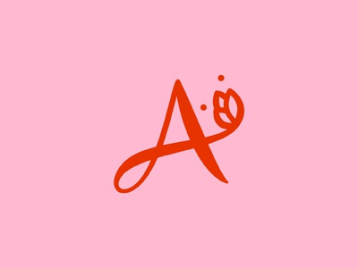 A Flower. women woman clothing floral feminine logo letter a flower