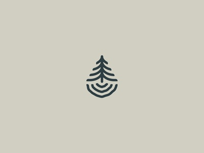 The great outdoors brand logo camping nature pine water ripple tree ring tree outdoor