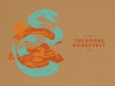 Theodore Roosevelt National Park Poster national park snake wildlife outdoors roosevelt theodore sun nature park national rattlesnake