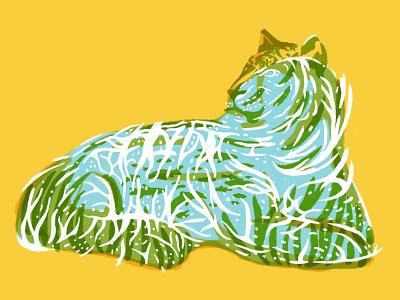 Catfish nature animal illustration fun cat stripes sea ocean water fish tiger