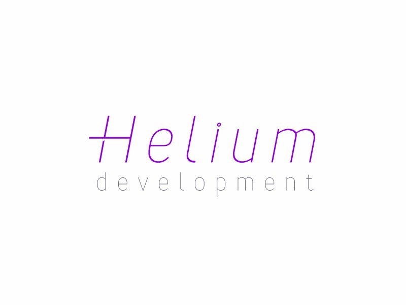 Helium dev argon gas helium logo