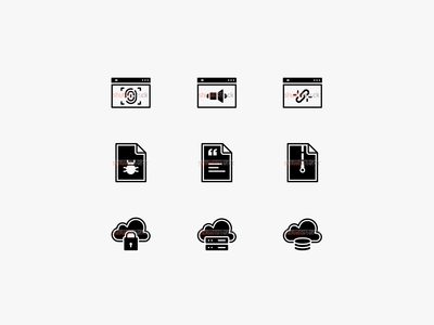 Programming and SEO Icon Set
