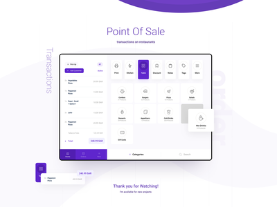 Point Of Sale iPad App Concept