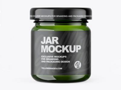 Green Jar Mockup