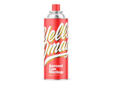Matte Aerosol Can Mockup yellowimages package pack mockup metallic matte can matte aerosol can matte gasoline gas can gas front view cans can camping branding aerosol gas can aerosol can aerosol