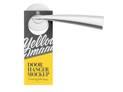 Paper Door Hanger Mockup tag signage sign plastic paper hanger paper door hanger paper mockup hanger handle hanger handle doorhanger door tag door sign door hanger door handle door donotdisturb cardboard