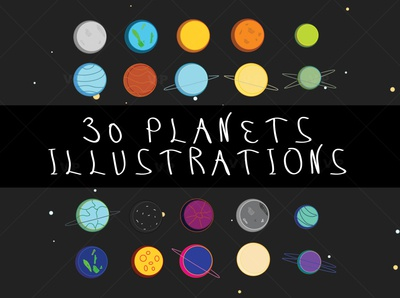 30 planets illustrations