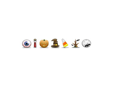 Updated Halloween Icons icons 32px icon eyeball eye blood vial pumpkin jack-o-lantern hat witch buckle candycorn candy corn tree bat moon