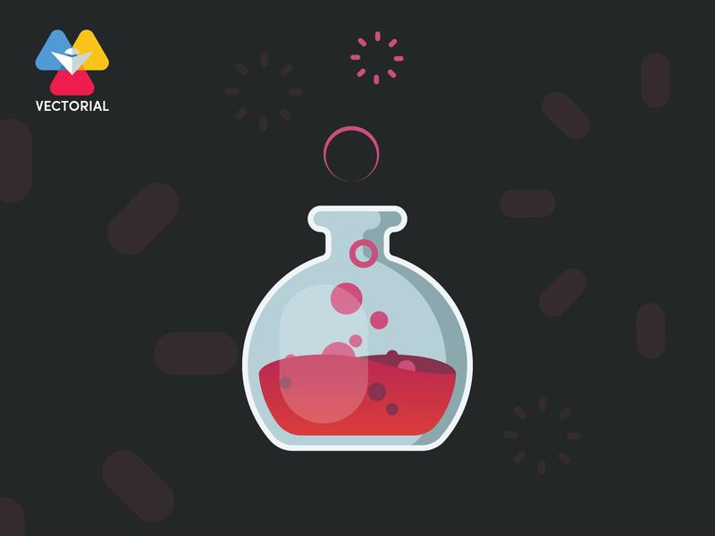 Lab Bottle vector ui branding logo design vector illustrator illustration flat design flatdesign flat