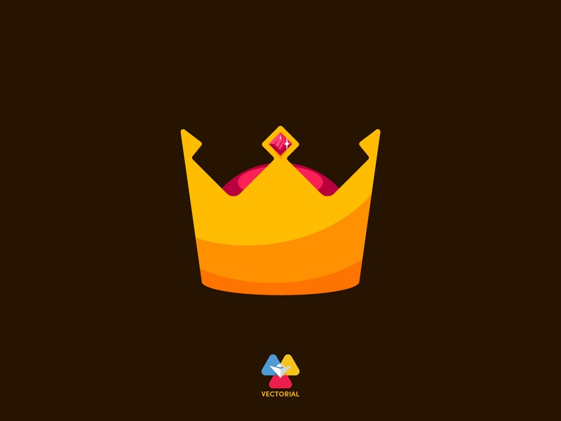 Crown vectorial icon logo tutorial vector design illustrator illustration flat design flatdesign flat
