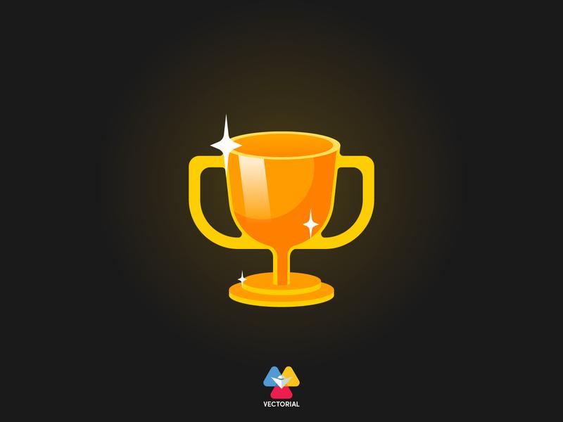 Winner Cup vectorial icon logo tutorial vector design illustrator illustration flat design flatdesign flat