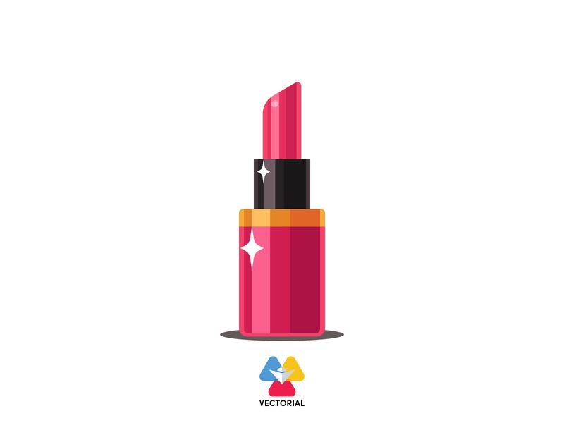 Lipstick vector vectorial icon logo tutorial vector design illustrator illustration flat design flatdesign flat