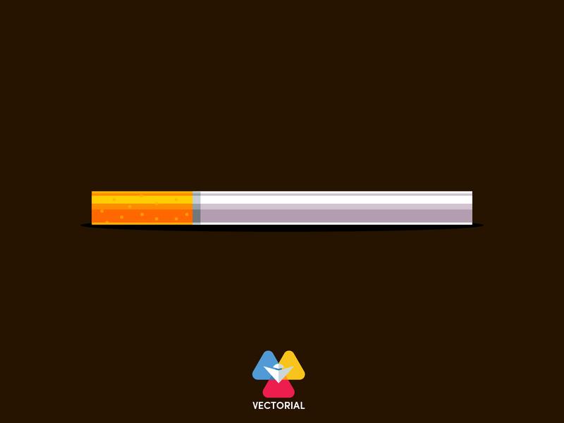 Cigarette vector vectorial illustration vectorial cigarette logo adobe faridhuseynli tutorial vector design illustrator illustration flat design flatdesign flat