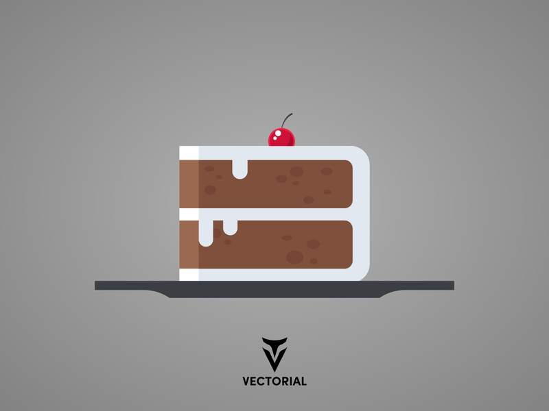 Cake flat cake cake tutorial cake vector cake vectorial icon logo tutorial vector design illustrator illustration flat design flatdesign flat