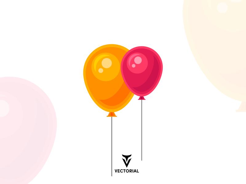 Flat design Balloons tutorial design illustrator illustration flatdesign illustrator cc adobe illustrator adobe flat logo balloons icon balloons vector vectorart vector flat design balloons flat balloons flat design flat