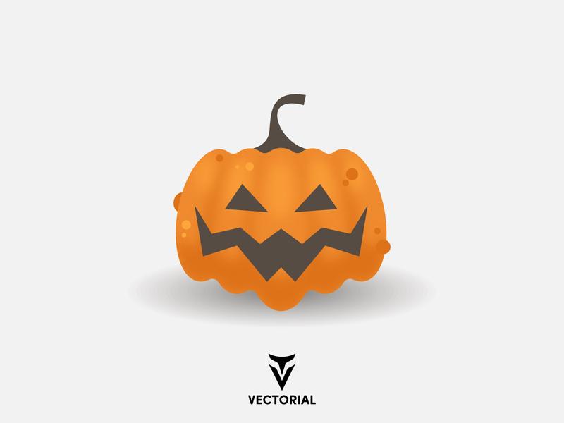 Halloween Pumpkin logo tutorial vector design illustrator illustration flat design flatdesign flat pumpkin halloween design halloween pumpkin halloween party halloween