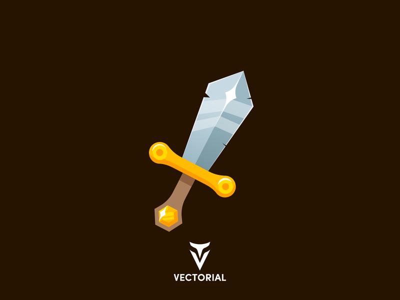Sword vector vectorial icon logo tutorial vector design illustrator illustration flat design flatdesign flat swords flat sword sword vector sword