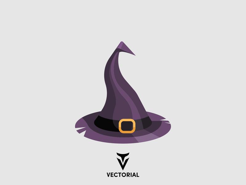 Witch hat halloween icons halloween item halloween witch hat icon witch hat vector flat witch hat hat witch hat witch vectorial icon logo tutorial vector design illustrator illustration flat design flatdesign flat