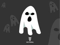 Ghost character halloween item halloween ghost adobe illustrator vectorial icon logo tutorial vector design illustrator illustration flat design flatdesign flat