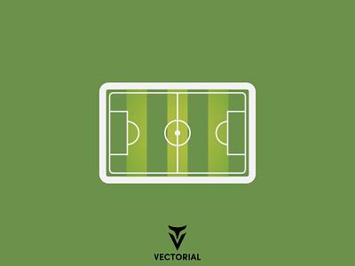 Football Field tutorial vector design illustrator flat design flatdesign illustration flat green green field soccer field soccer field football field football