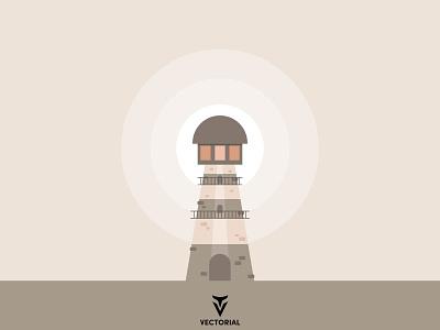 Lighthouse icon logo faridhuseynli tutorial vector design illustrator flat design flatdesign illustration flat lighthouse