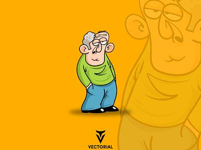 Character cartoon character cartoon oldman character character design illustrator flatdesign flat design illustration flat