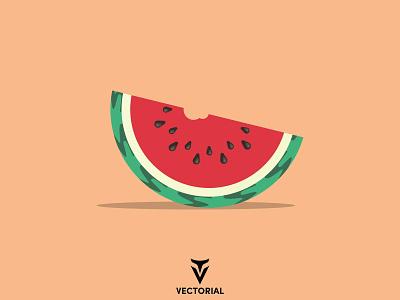 Watermelon watermelon branding ui logo vector design illustrator flatdesign flat design illustration flat