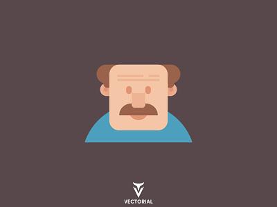 Man Character graphic design man character character ui branding logo vector design illustrator flatdesign flat design illustration flat