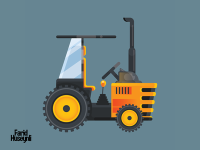 Flat Design Agricultural Tractor
