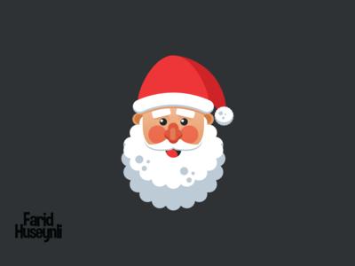 Flat Design Santa Claus