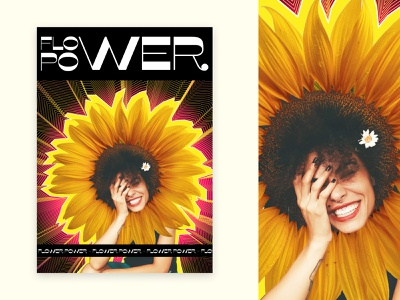 Flower power ^^ illustrator power flower graphic design graphic poster design poster photoshop illustration design