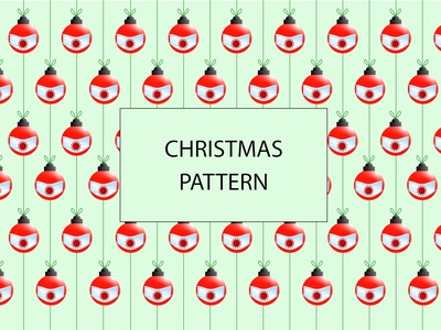 Christmas Pattern - Corona dribbble photoshop drawing drawing illustration creation vector illustrator cc
