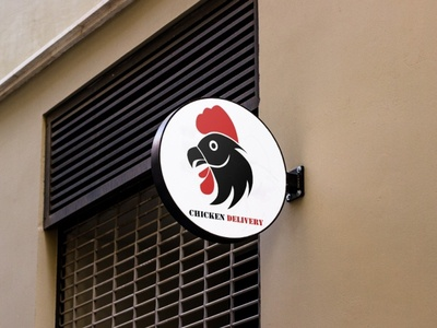 Chicken Delivery Logo Mockup