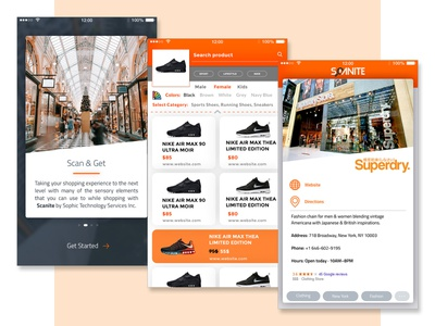 App UI - Scanite mixed reality augmented reality e-commerce mobile app mobile ux mobile ui mobile app ux app ui app screen app design app user experience user interface ui ux ux ui