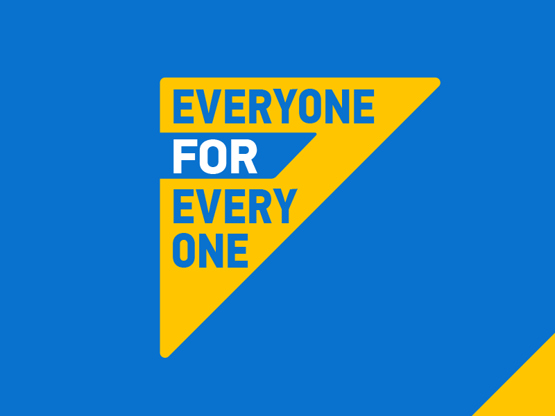 Everyone For Every One campaign branding triangle yellow blue watermarke church north point ministries