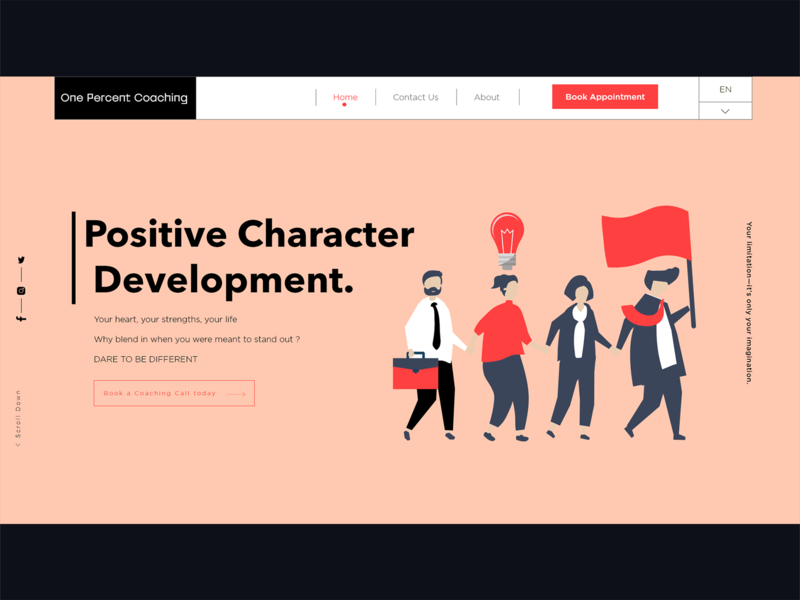 Landing Page design for Psychologist Client design ui  ux project freelance uidesign website design webdesign web design website web