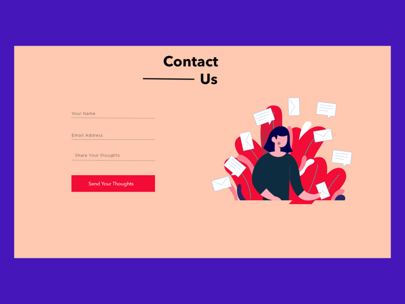 New Landing Page Design Using Adobe XD illustration ui  ux freelance ui ui design uidesign webdesign contact form contact us contact
