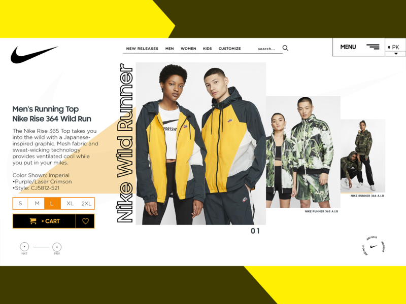 Nike Concept Design| Ecommerce website design ecommerce design ecommerce header uidesign branding webdesign freelance