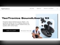 Tao Tronics Earphones landing Page eCommerce ui experiment adobe xd ecommerce design ecommerce ui  ux header webdesign uidesign freelance