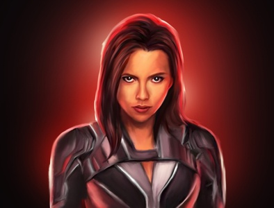 black widow Digital Painting