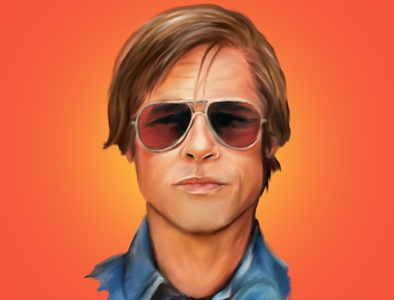 Brad Pitt Digital Painting