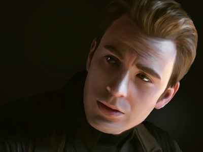 Captain America Digital Painting