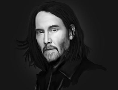 Keanu Reeves Digital Painting