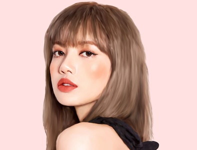 Lisa Black Pink Digital Painting