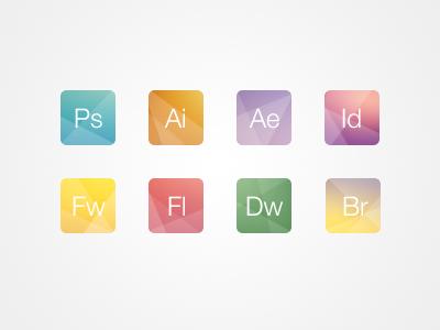 Creative adobe icons