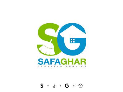 Safa Ghar logotype design logo design cleaning company cleaning service brand identity brand design brand logomark logo