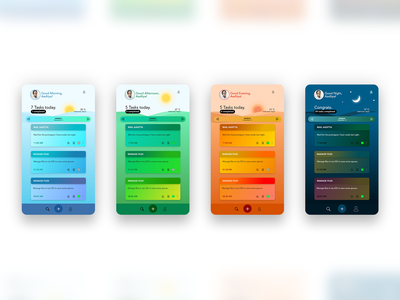 Task Manager App - Mobile UI app ui design app design design ui design task manager uidesign ui xd design xd