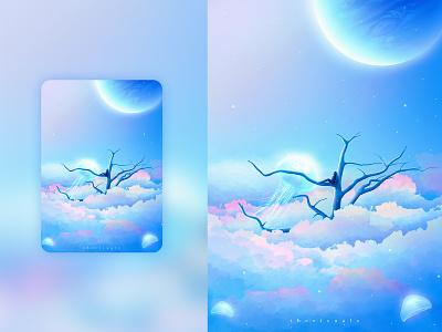 Above the Clouds spaceart digitalart surrealism fantasy fantasyart illustration design adobe photoshop photomanipulation