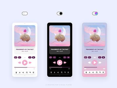 Music Player App UI thevisualx graphicesigner graphic uiux prototype musicpayer app uidesigner designer adobexd xd uxdesign uidesign ux ui design