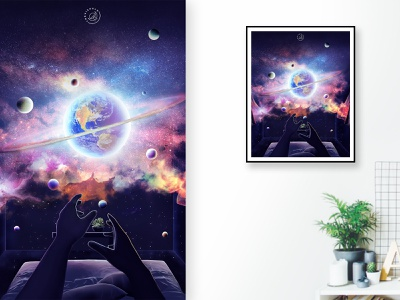 A Room Full of Stars fantasyart illustration surrealism spaceart fantasy adobe photoshop thevisualx photomanipulation digitalart design